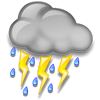 Erzurum bugün sağanak yağmurlu, sıcaklık 20°C