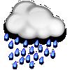 Samsun bugün yağmurlu, sıcaklık 10°C