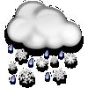 Erzurum bugün karla karışık yağmur, sıcaklık 0°C