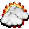 Van bugün bulutlu, sıcaklık 27°C